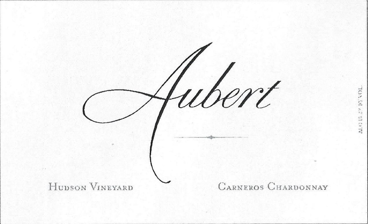 Aubert Hudson Vineyard Chardonnay 2016 Front Label