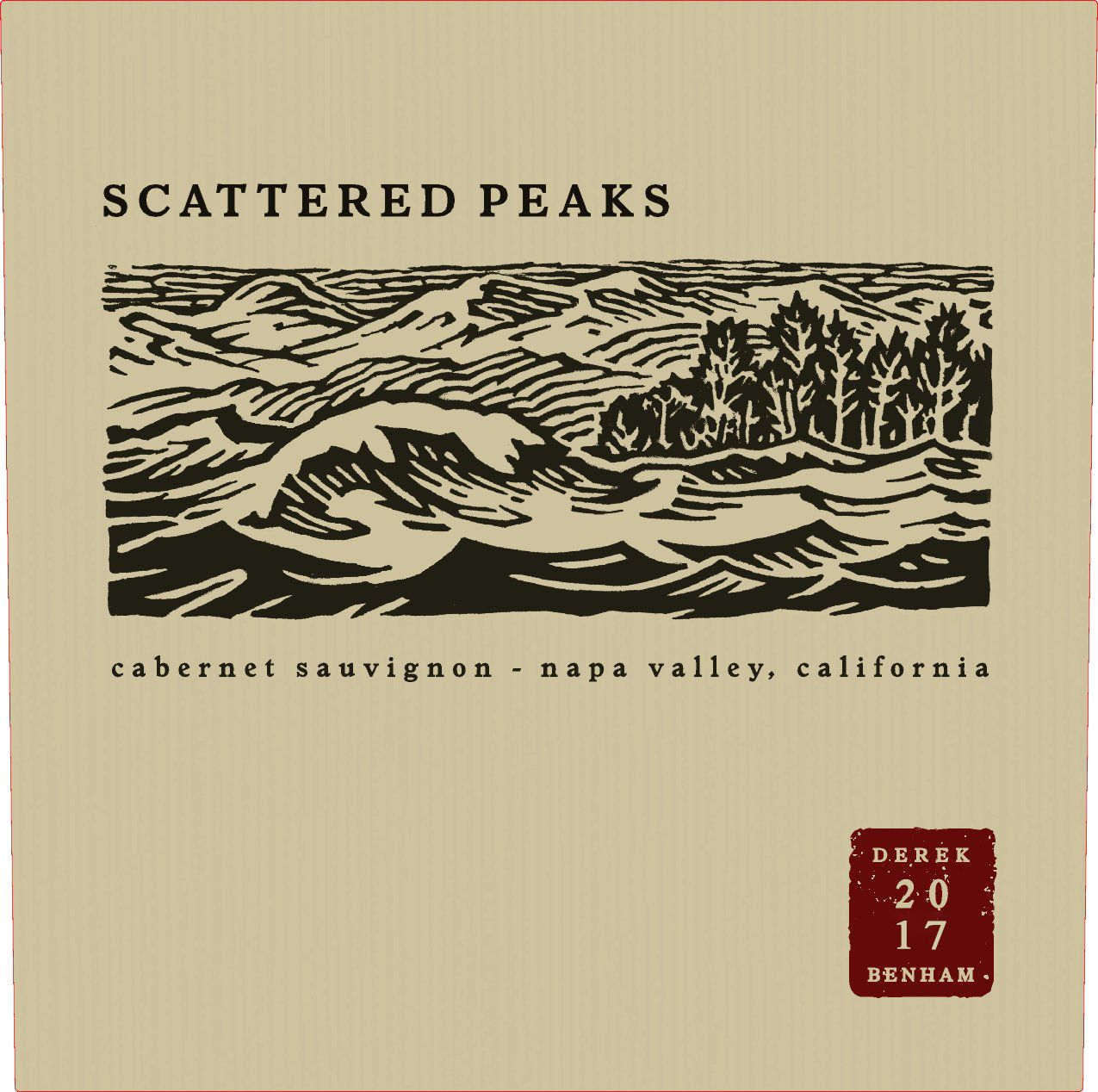 Scattered Peaks Cabernet Sauvignon 2017  Front Label