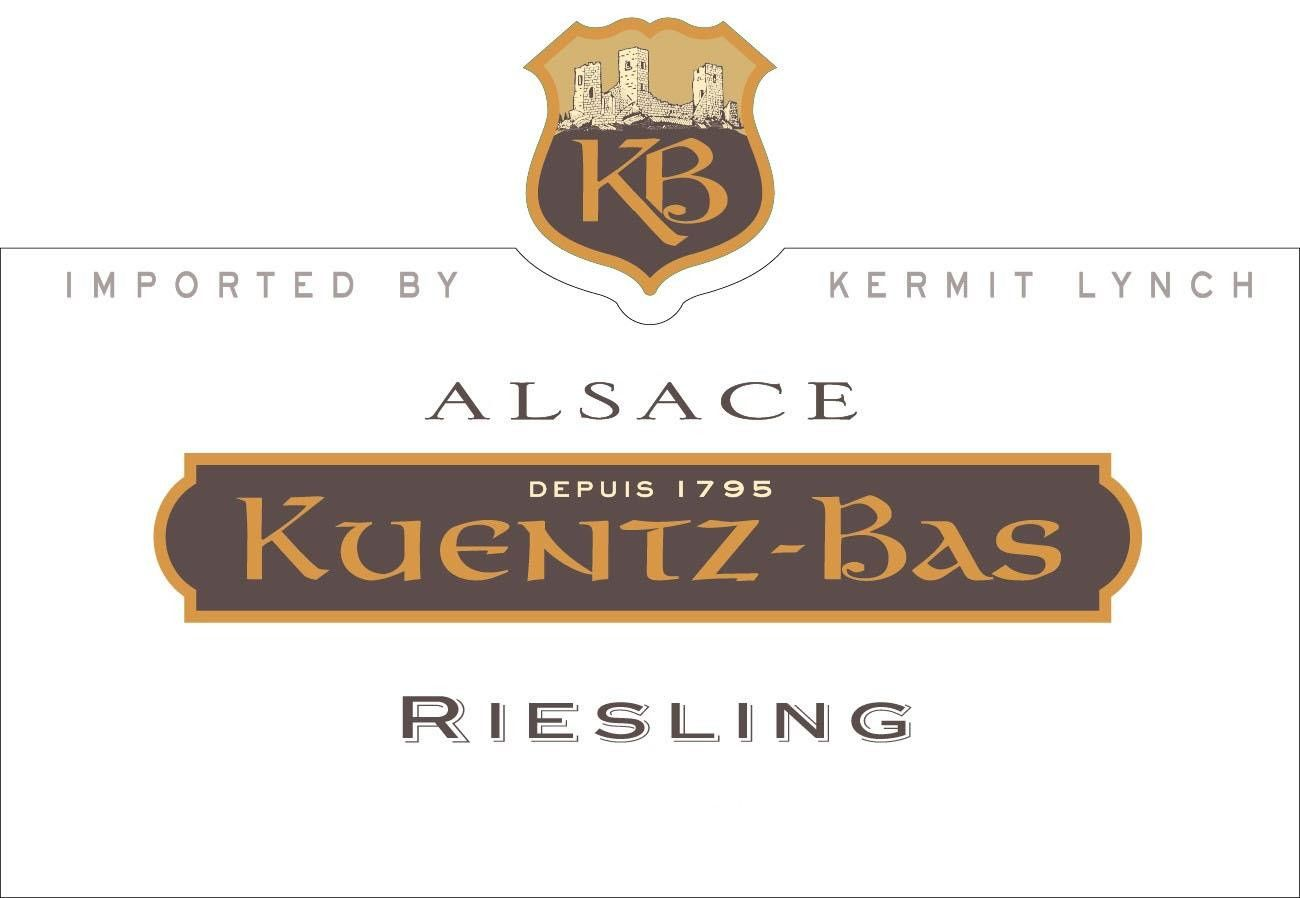 Kuentz-Bas Riesling 2016  Front Label