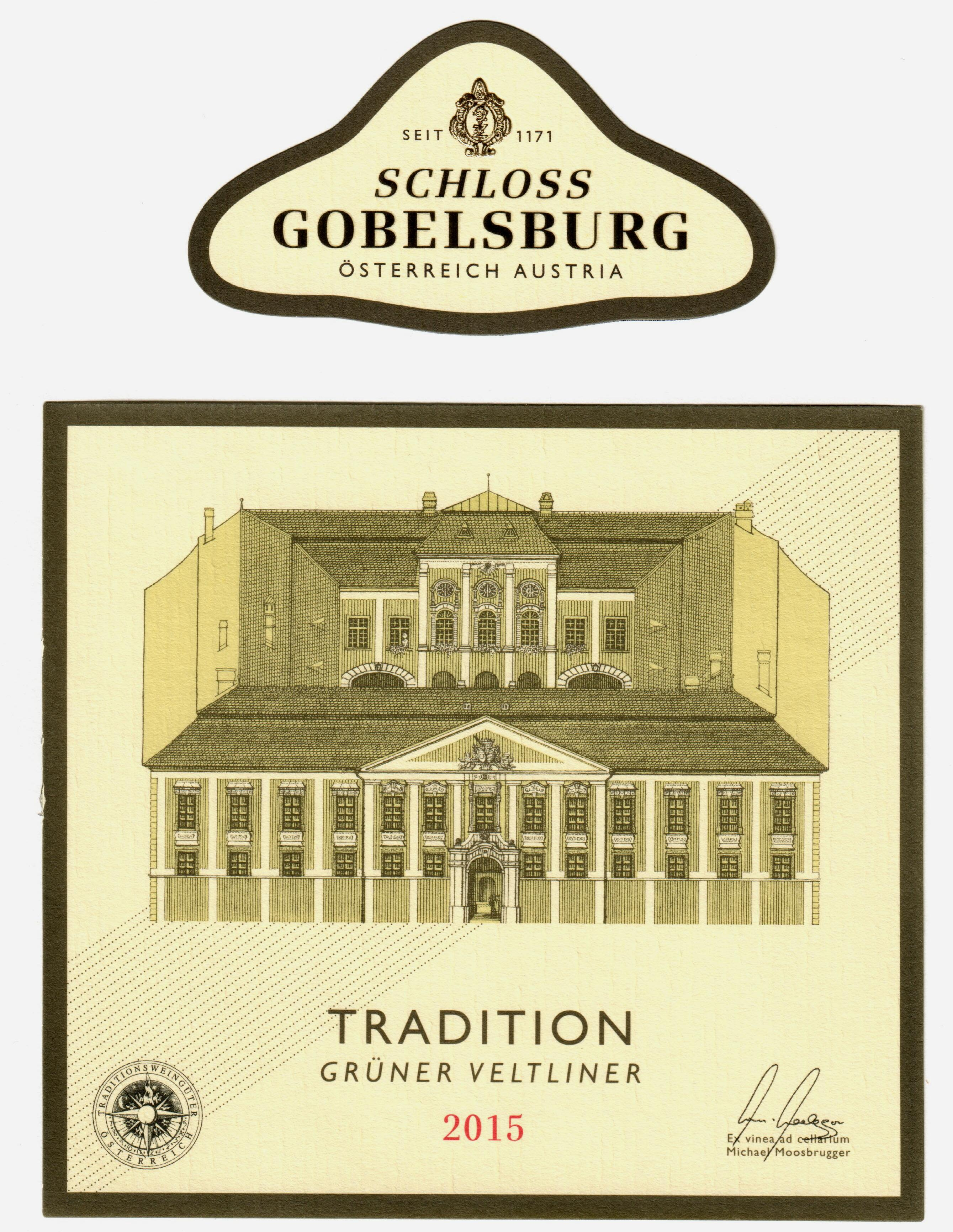 Schloss Gobelsburg Tradition Gruner Veltliner 2015  Front Label