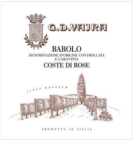 G.D. Vajra Barolo Coste di Rose 2016  Front Label