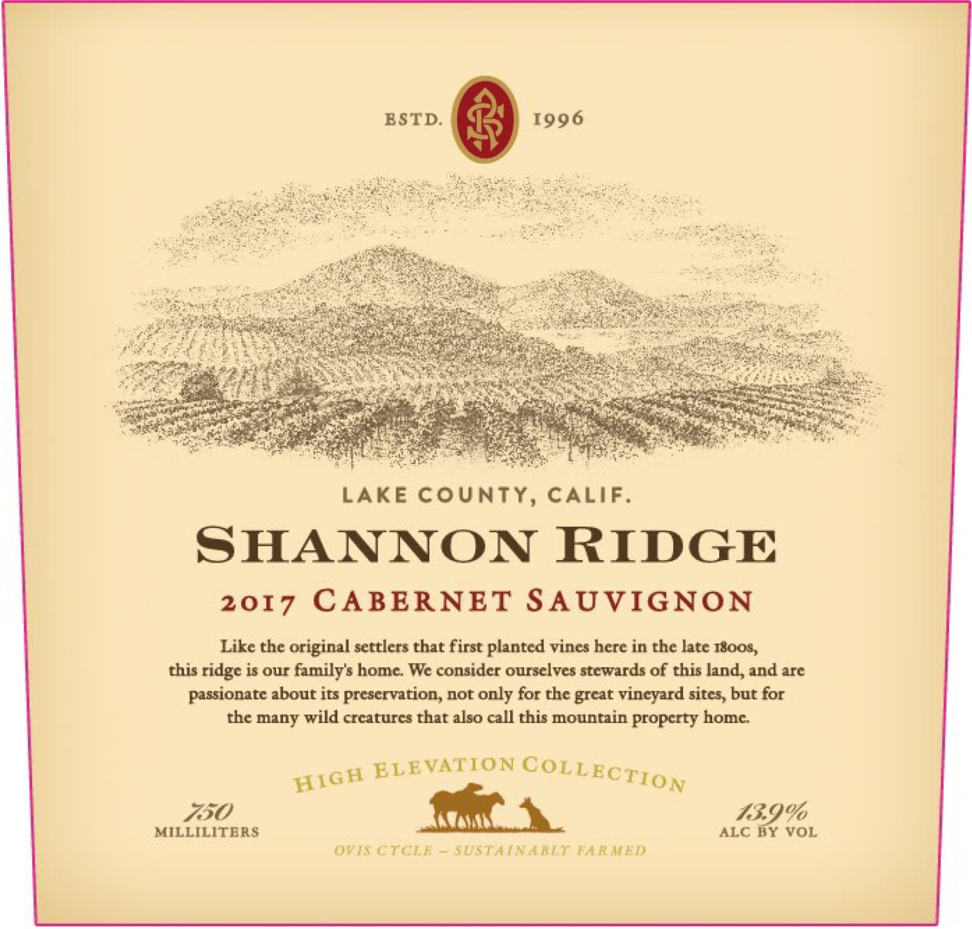 Shannon Ridge High Elevation Cabernet Sauvignon 2017  Front Label