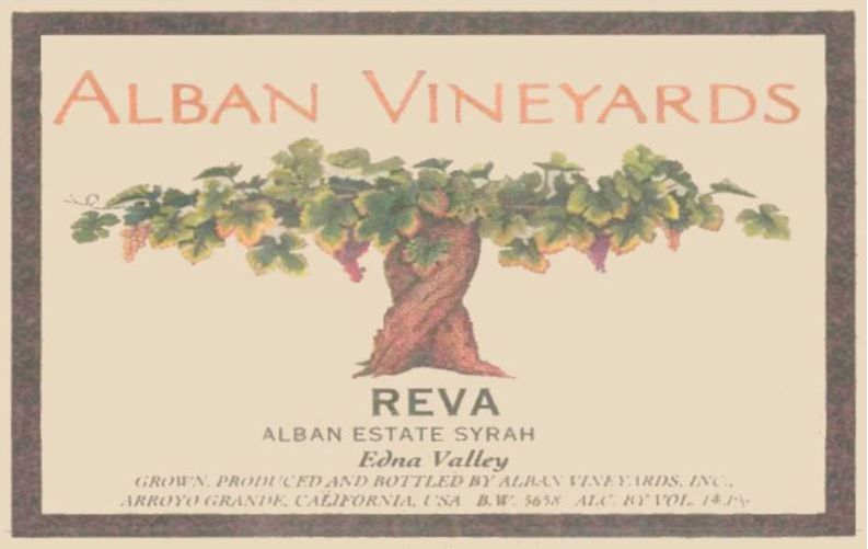 Alban Reva Estate Syrah (1.5 Liter Magnum) 2006 Front Label