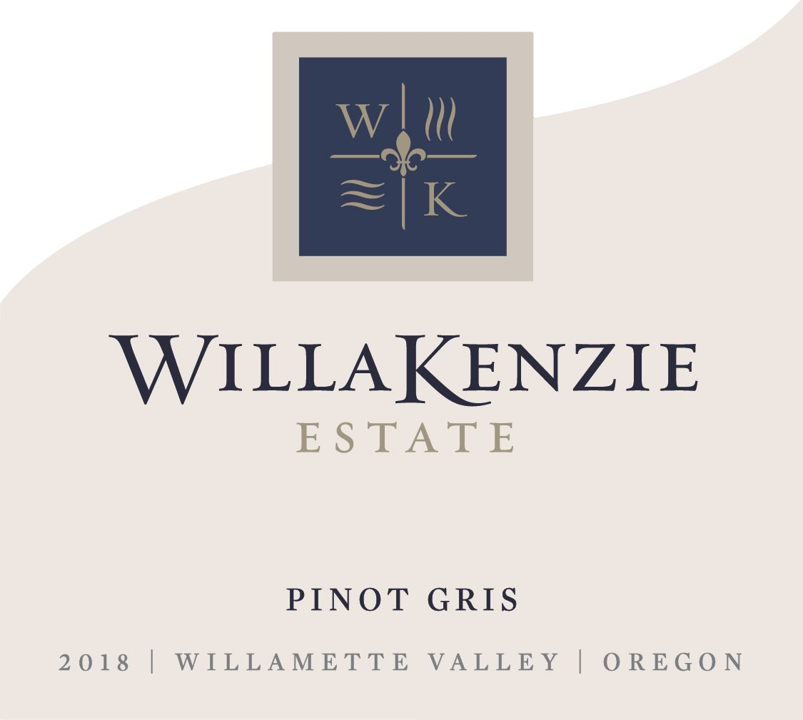 WillaKenzie Estate Estate Grown Pinot Gris 2018  Front Label