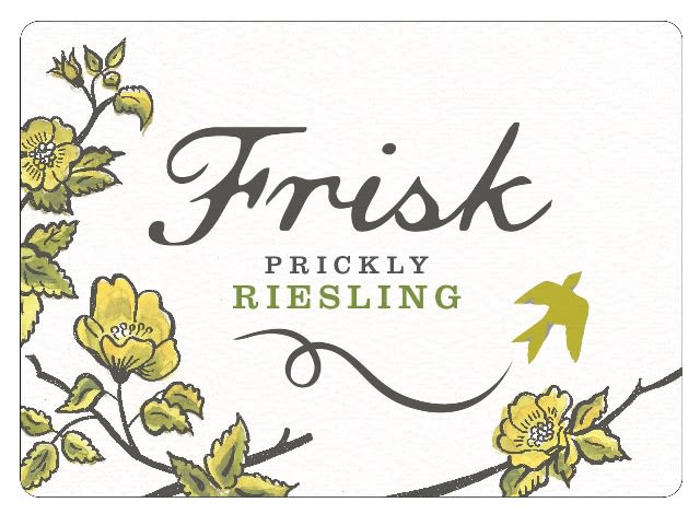 Frisk Prickly Riesling 2020  Front Label