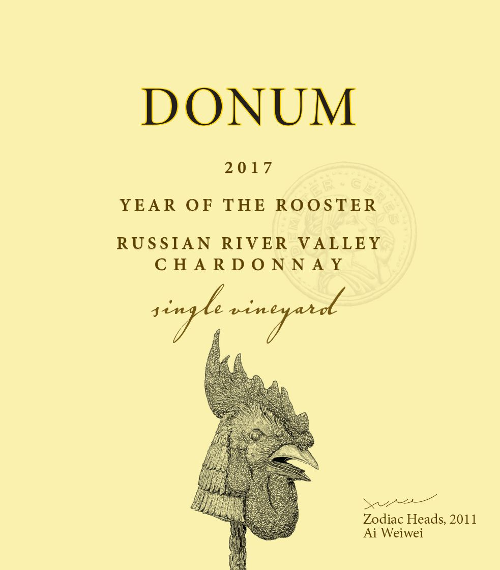 The Donum Estate Russian River Chardonnay 2017  Front Label