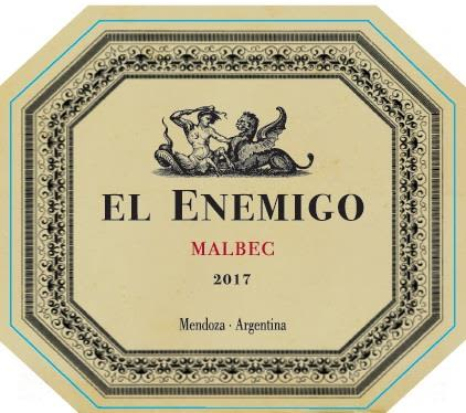 El Enemigo  Malbec 2017  Front Label