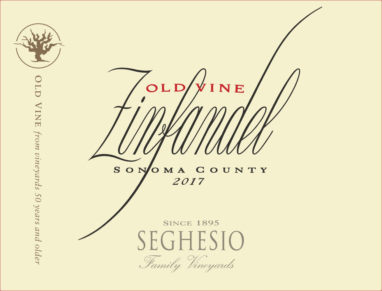 Seghesio Old Vine Zinfandel 2017  Front Label