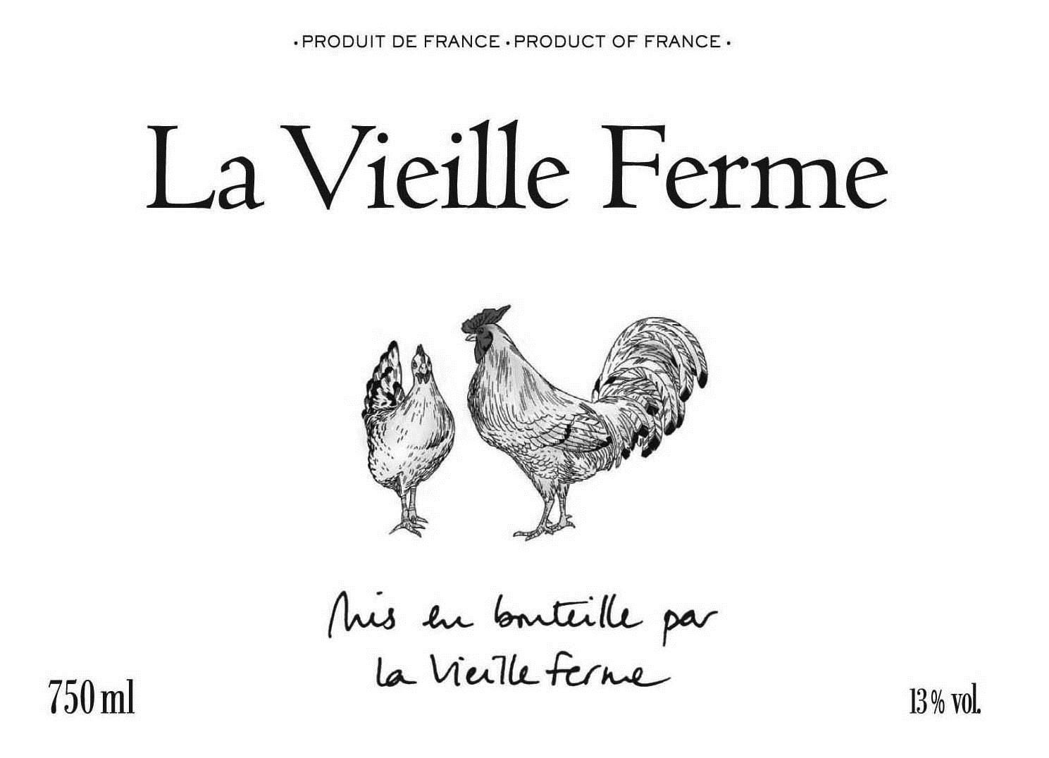 La Vieille Ferme Rose 2019  Front Label