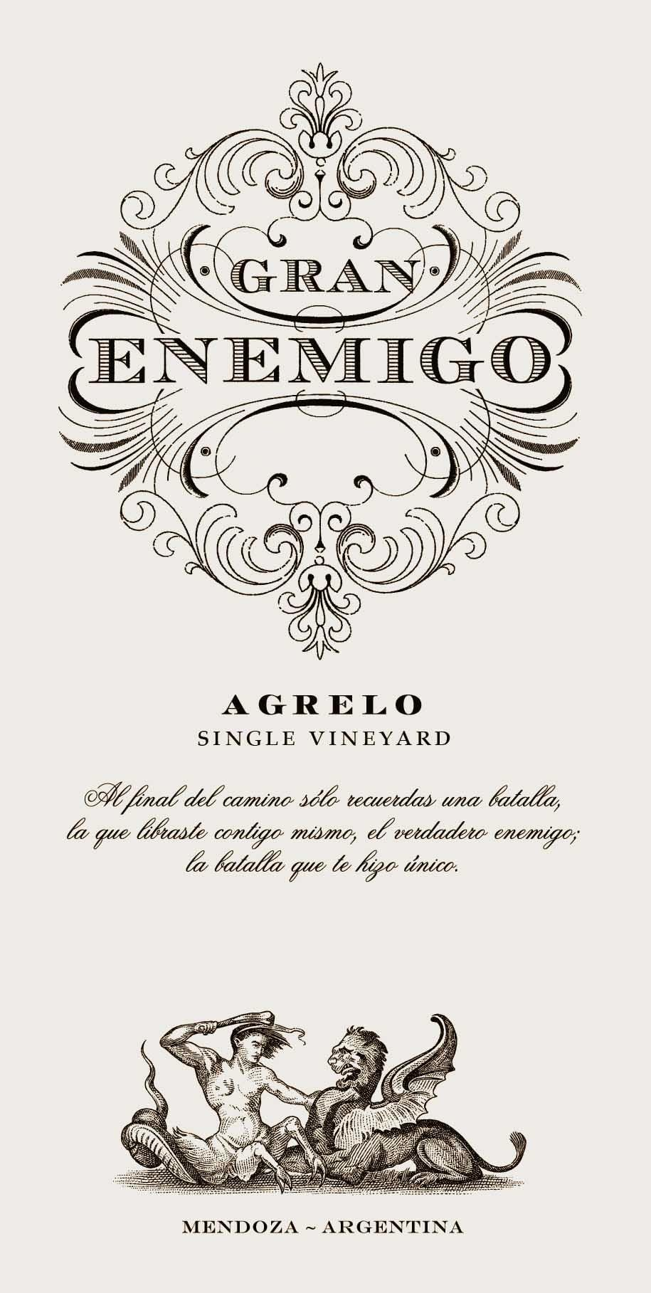 El Enemigo  Gran Enemigo Agrelo Single Vineyard 2014  Front Label