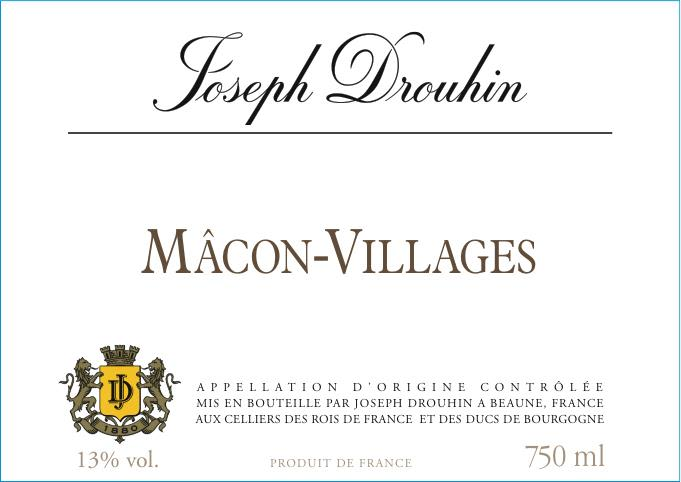Joseph Drouhin Macon Villages 2019 Front Label