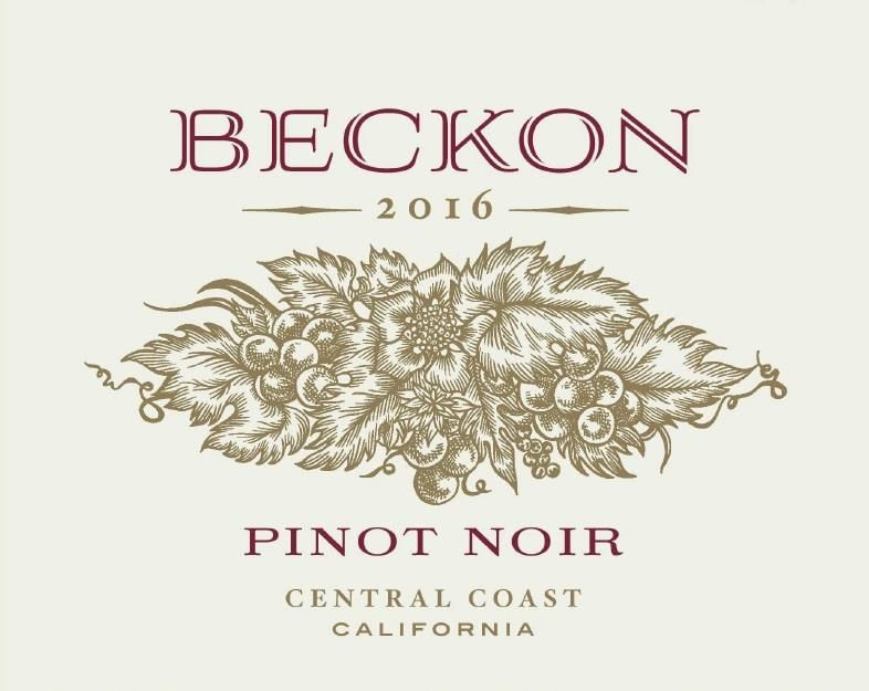 Beckon Pinot Noir Bien Nacido Vineyard 2016 Front Label