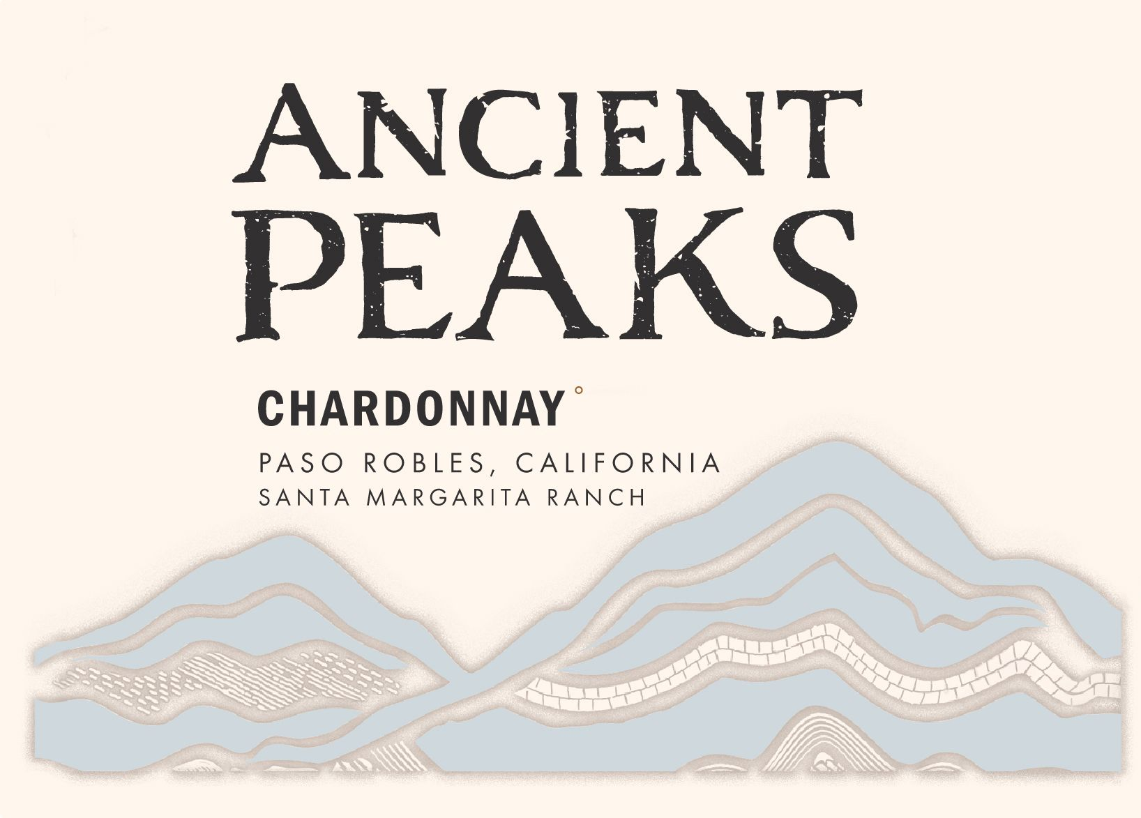 Ancient Peaks Chardonnay 2019  Front Label