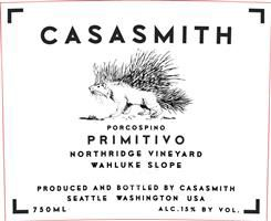 Casa Smith Porcospino Primitivo 2017  Front Label