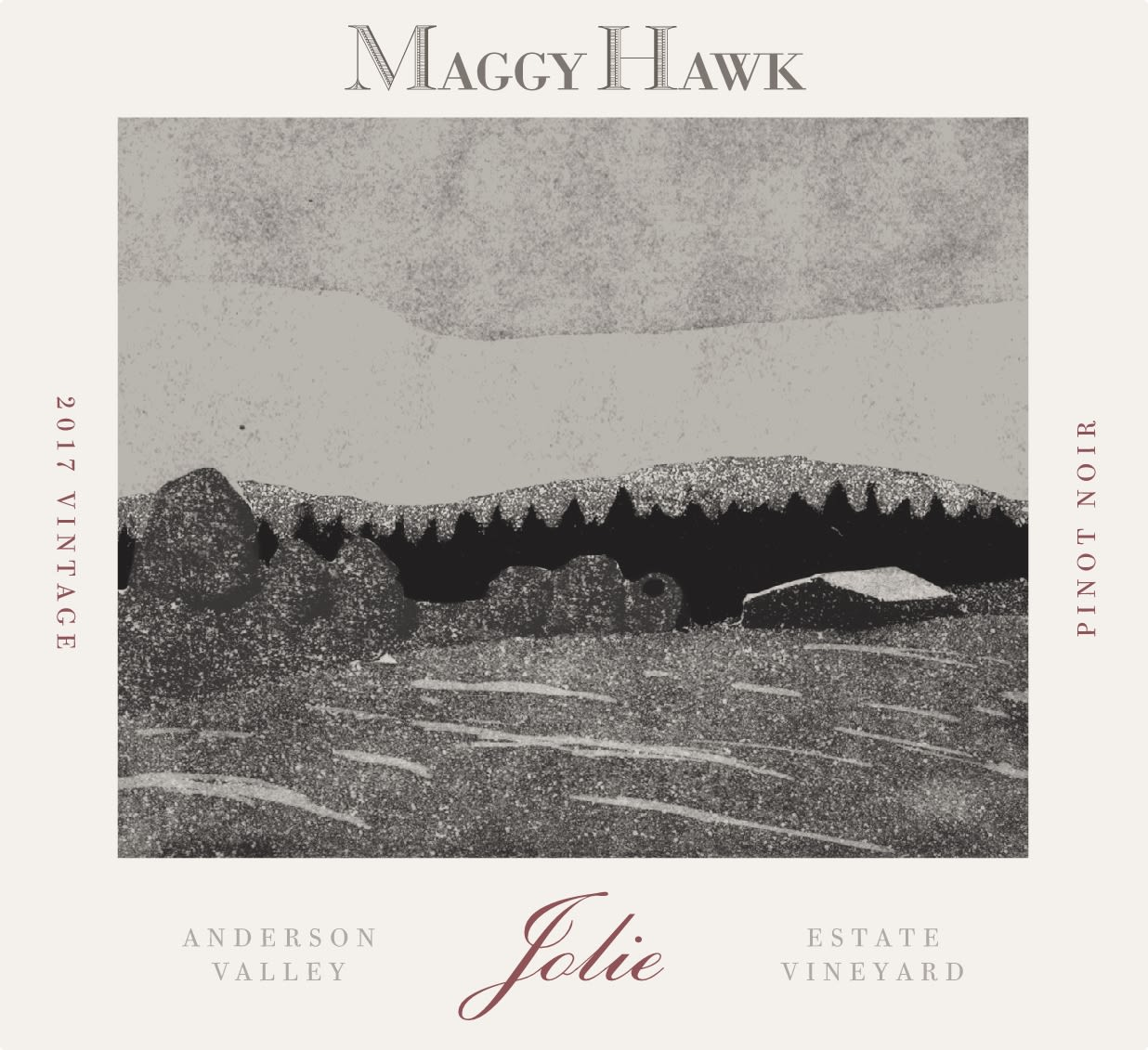 Maggy Hawk Jolie Anderson Valley Pinot Noir 2017  Front Label