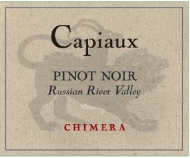 Capiaux Cellars Chimera Pinot Noir 2015 Front Label