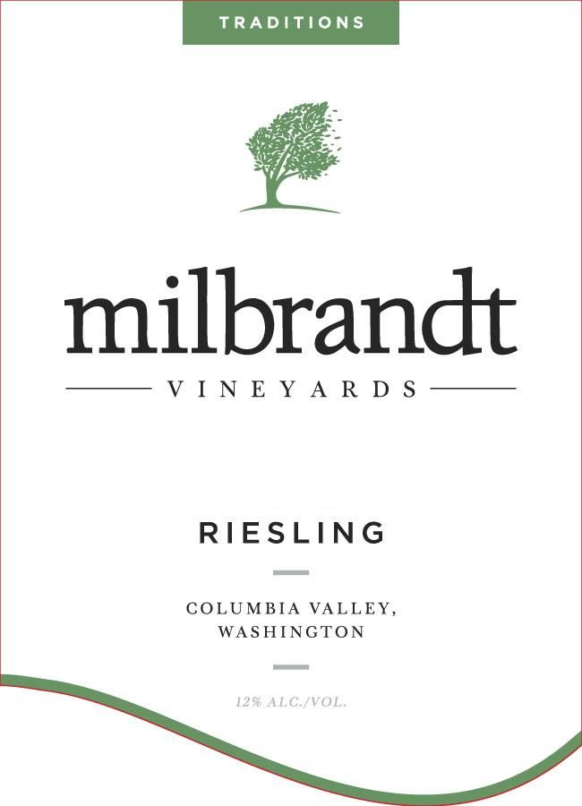 Milbrandt Traditions Riesling 2016 Front Label