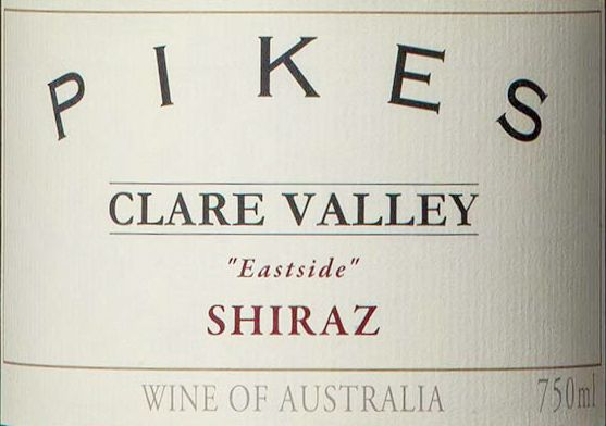 Pikes Eastside Shiraz 2014  Front Label