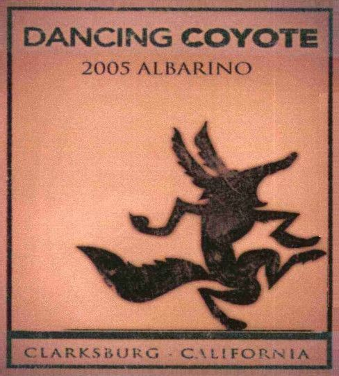Dancing Coyote Albarino 2005  Front Label