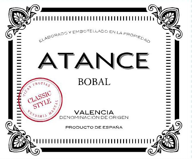 Mustiguillo Atance Bobal 2018  Front Label