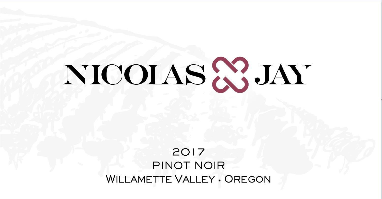 Nicolas-Jay Willamette Valley Pinot Noir 2017  Front Label