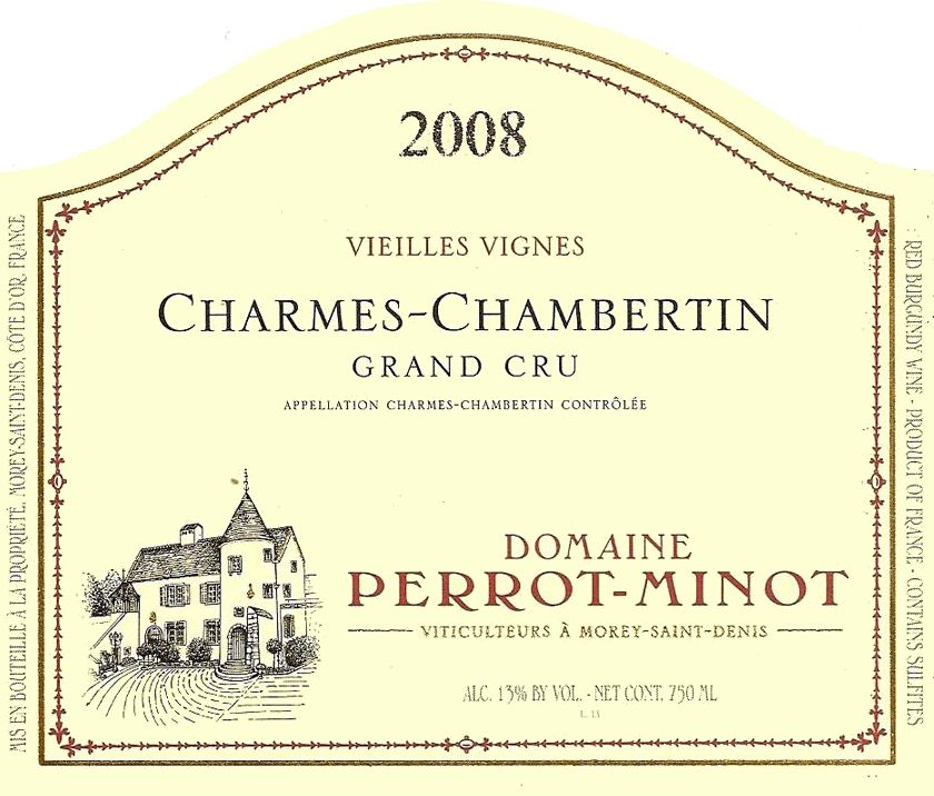 Domaine Perrot-Minot Charmes-Chambertin Grand Cru Vieilles Vignes 2008  Front Label
