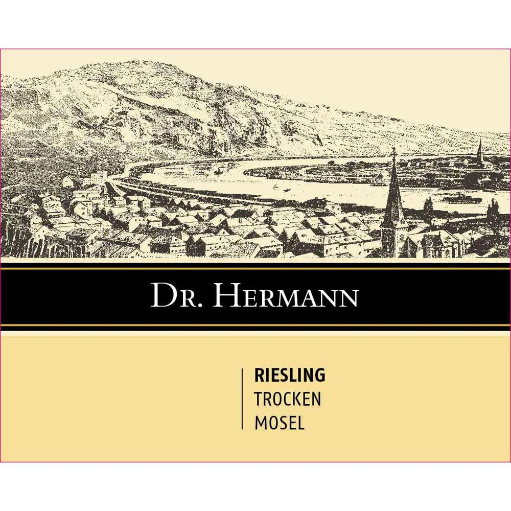 Dr. Hermann Trocken Riesling 2018  Front Label