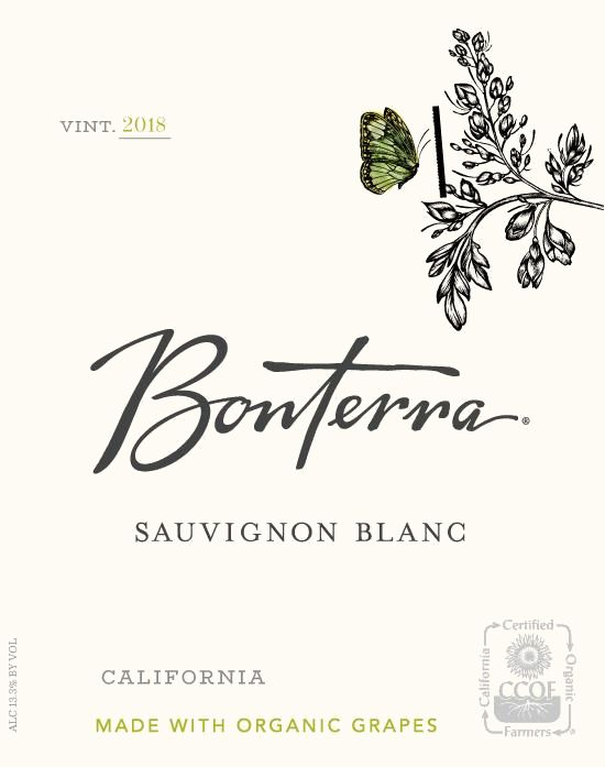Bonterra Organically Grown Sauvignon Blanc 2018 Front Label