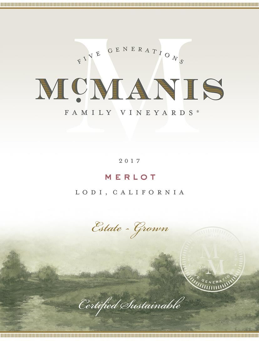 McManis Family Vineyards Merlot 2017 Front Label