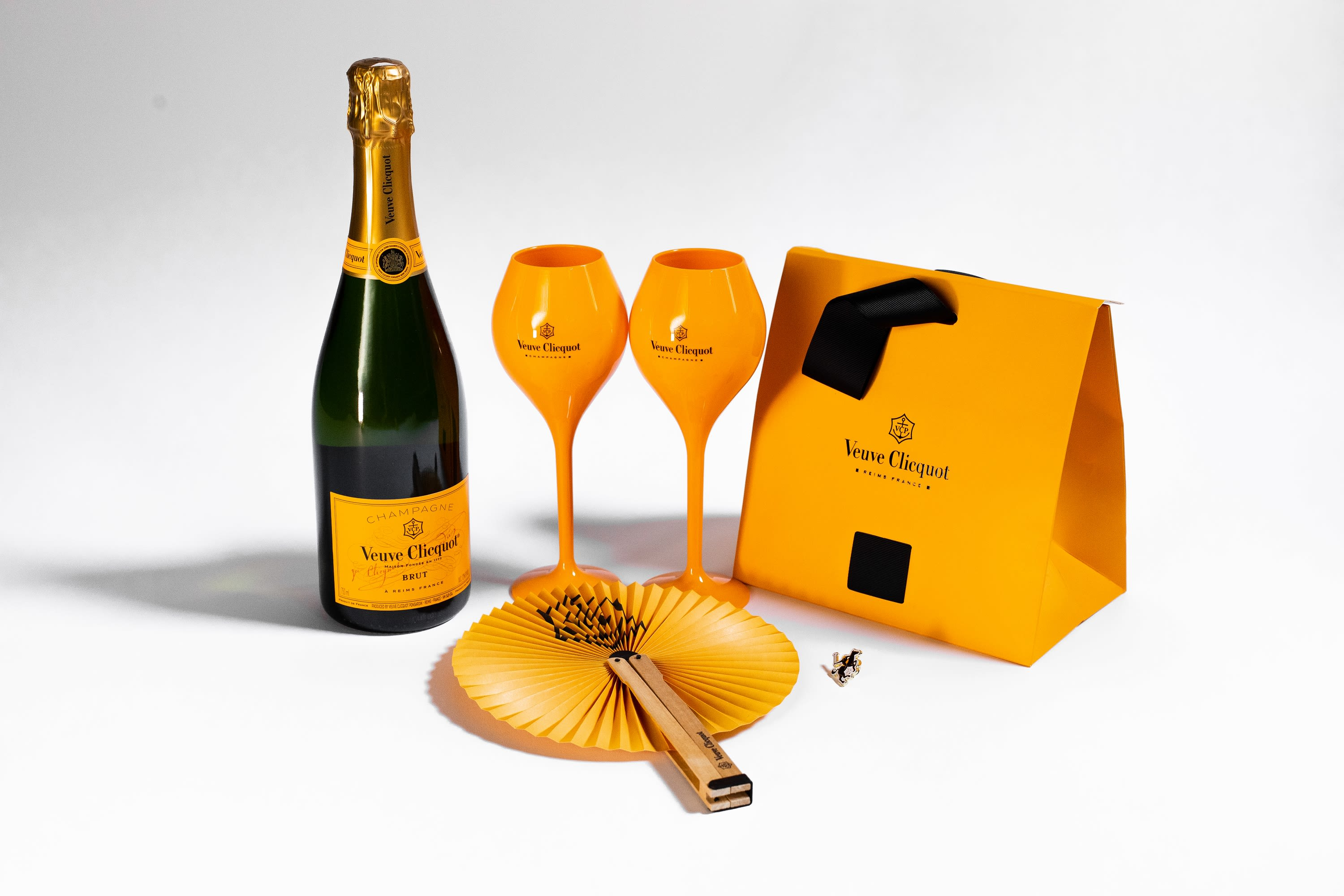 Veuve Clicquot Polo Classic Yellow Label Bottle with Lawn Essentials Set  Gift Product Image