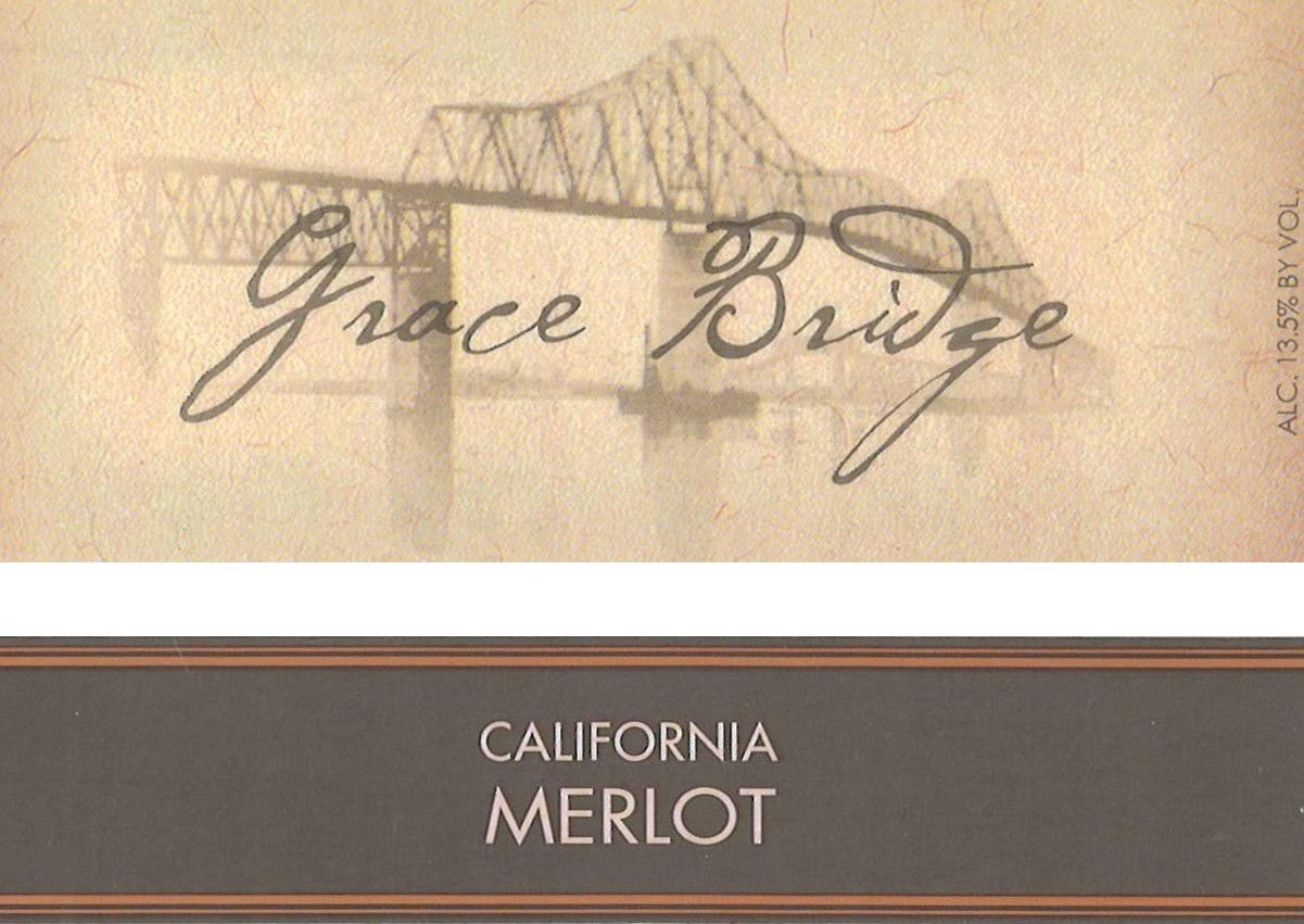Scotto Cellars Grace Bridge Merlot  Front Label