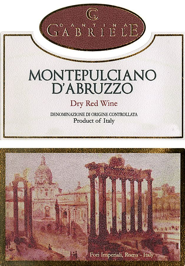 Cantina Gabriele Montepulciano d'Abruzzo (OU Kosher) 2016 Front Label