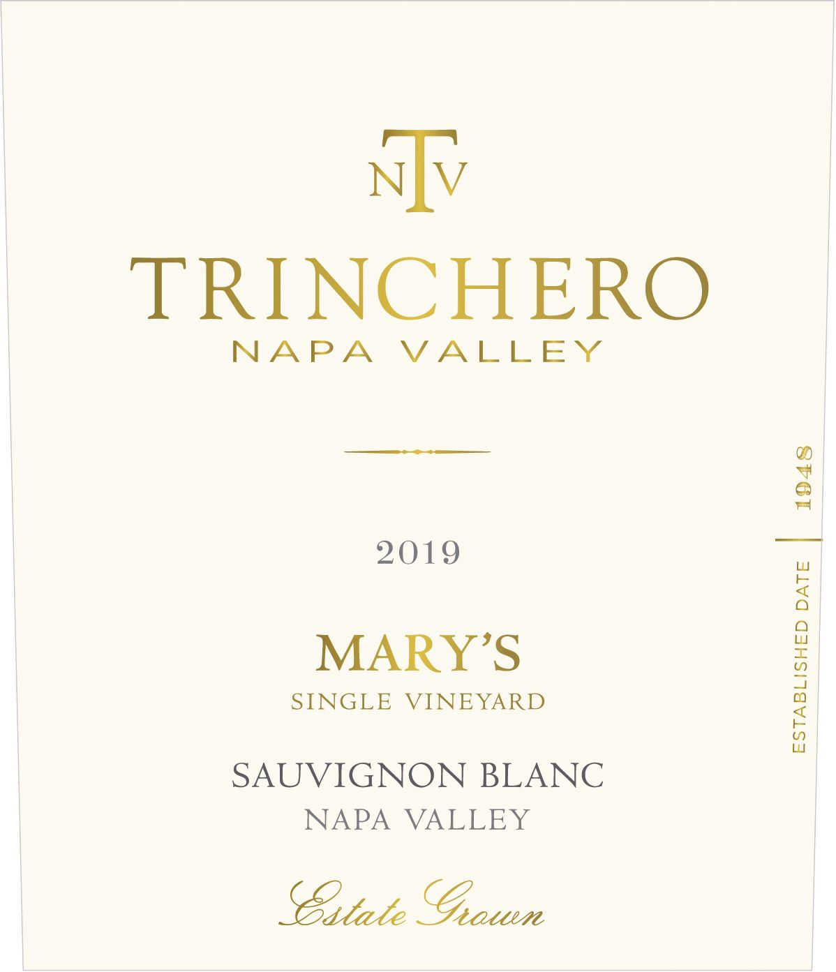 Trinchero Mary's Vineyard Sauvignon Blanc 2019  Front Label