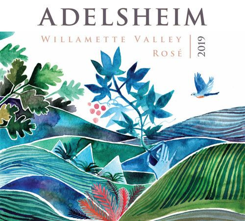 Adelsheim Rose 2019  Front Label