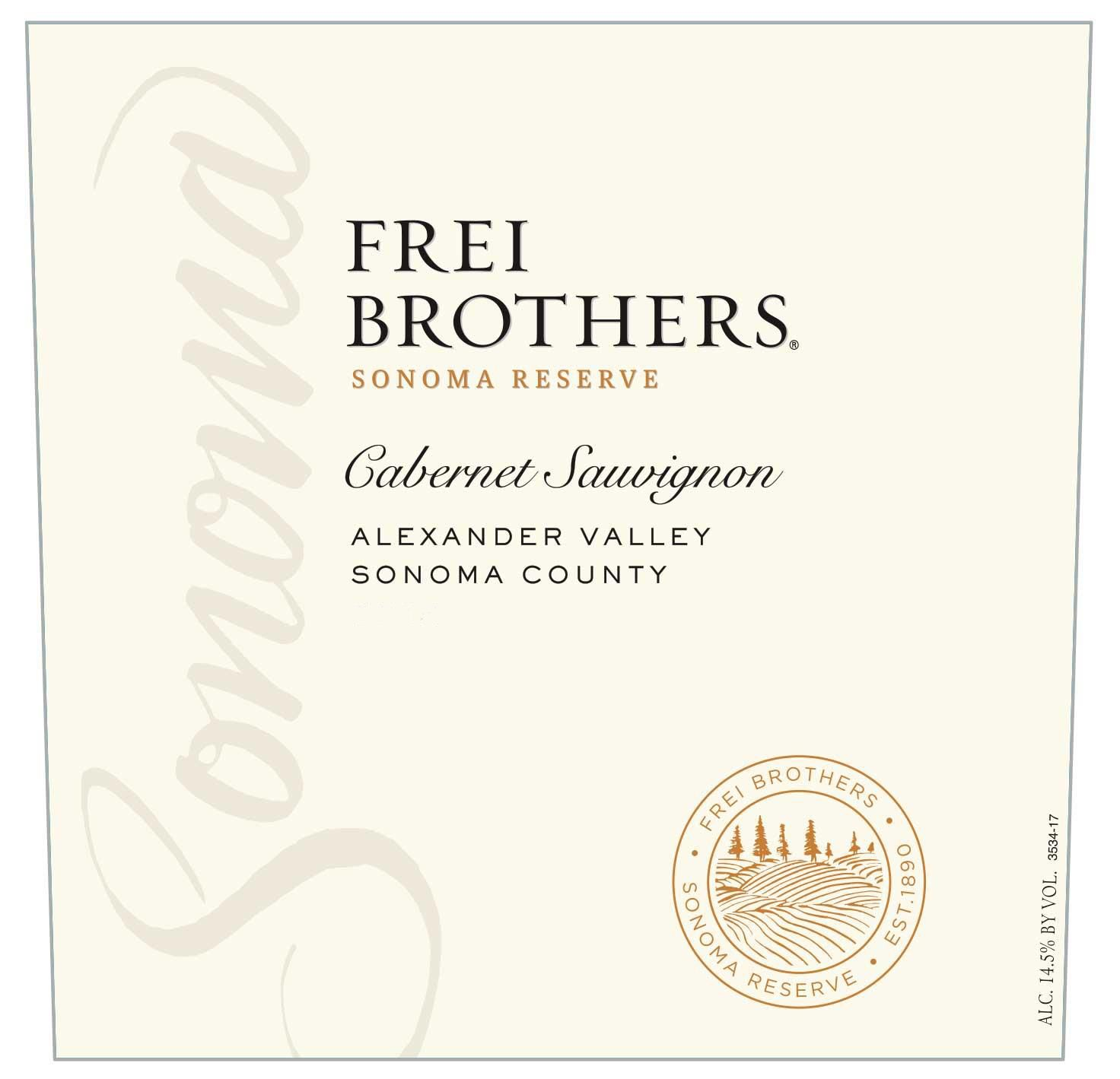 Frei Brothers Reserve Cabernet Sauvignon 2018  Front Label