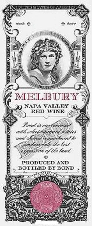 Bond Melbury 2012 Front Label