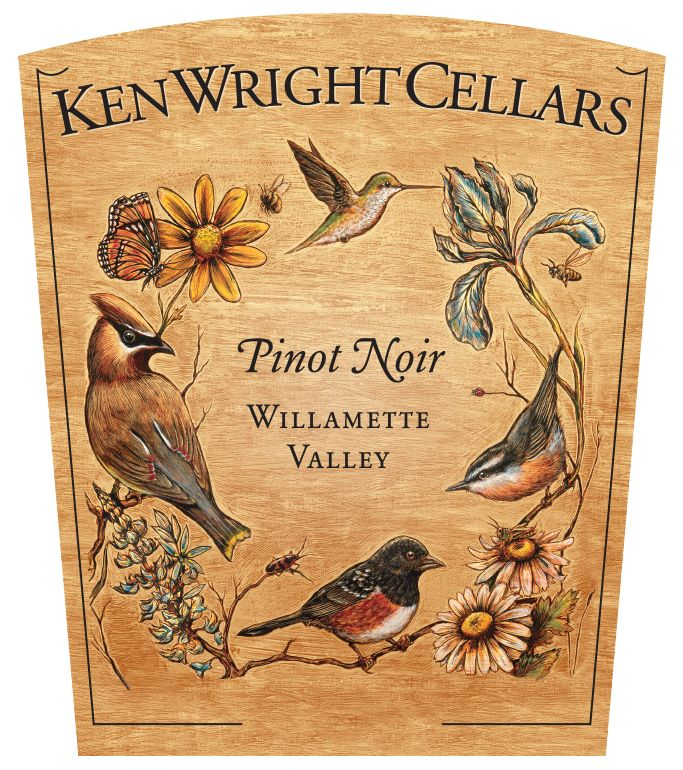 Ken Wright Cellars Willamette Valley Pinot Noir 2018  Front Label