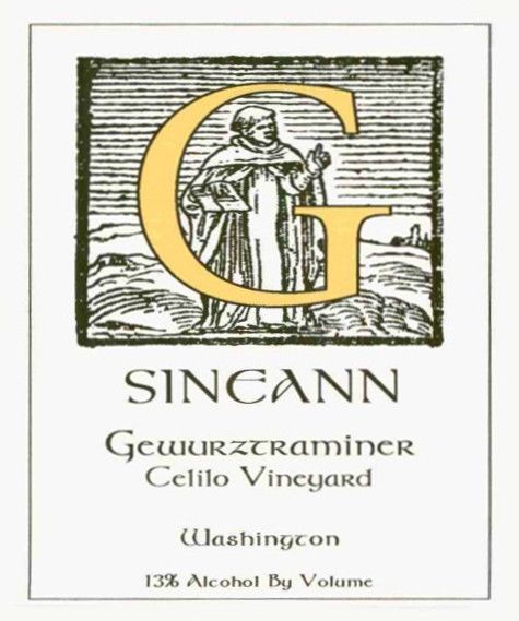 Sineann Winery Celilo Vineyard Gewurztraminer 2004  Front Label