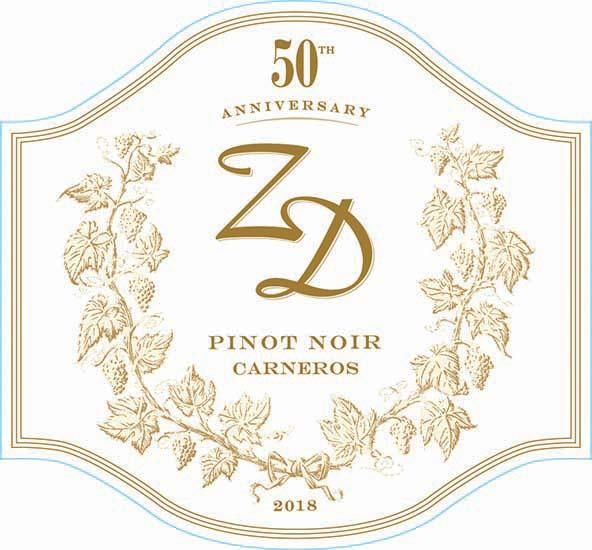 ZD Wines 50th Anniversary Pinot Noir 2018  Front Label