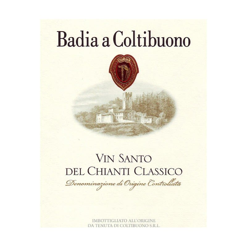Badia a Coltibuono Vin Santo (375ML half-bottle) 2010 Front Label