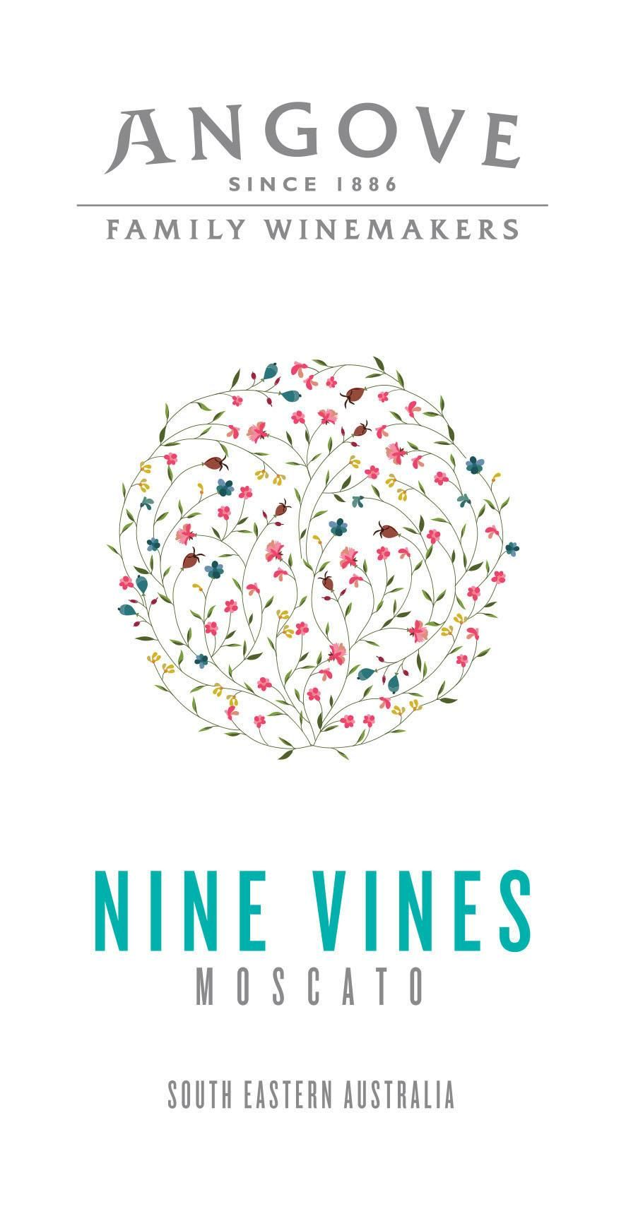 Angove Family Winemakers Nine Vines Moscato 2019  Front Label