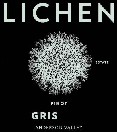 Lichen Pinot Gris 2018  Front Label