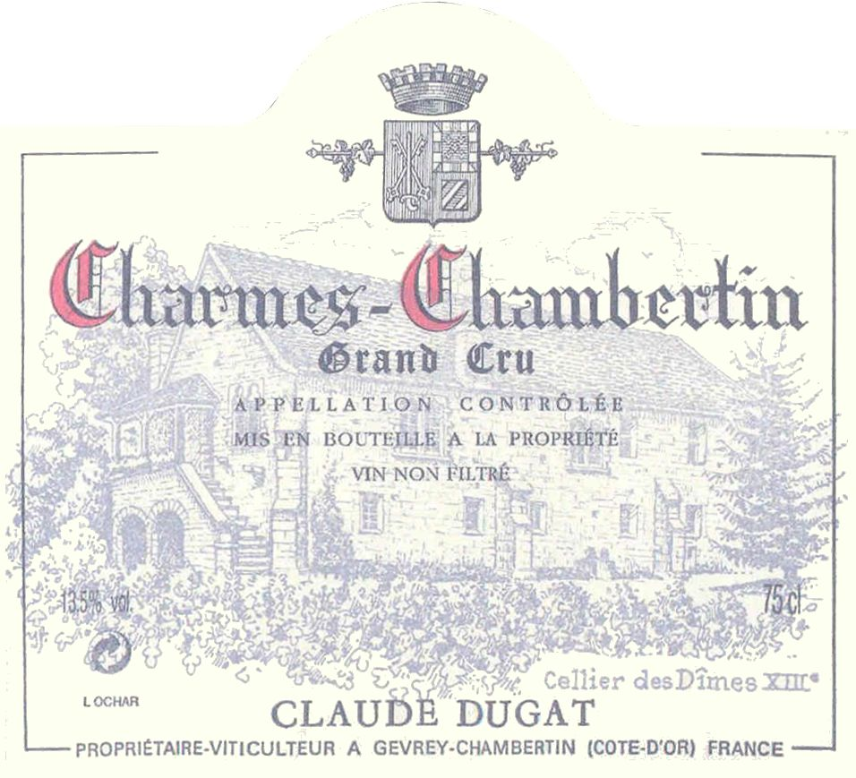 Domaine Claude Dugat Charmes Chambertin 2005  Front Label