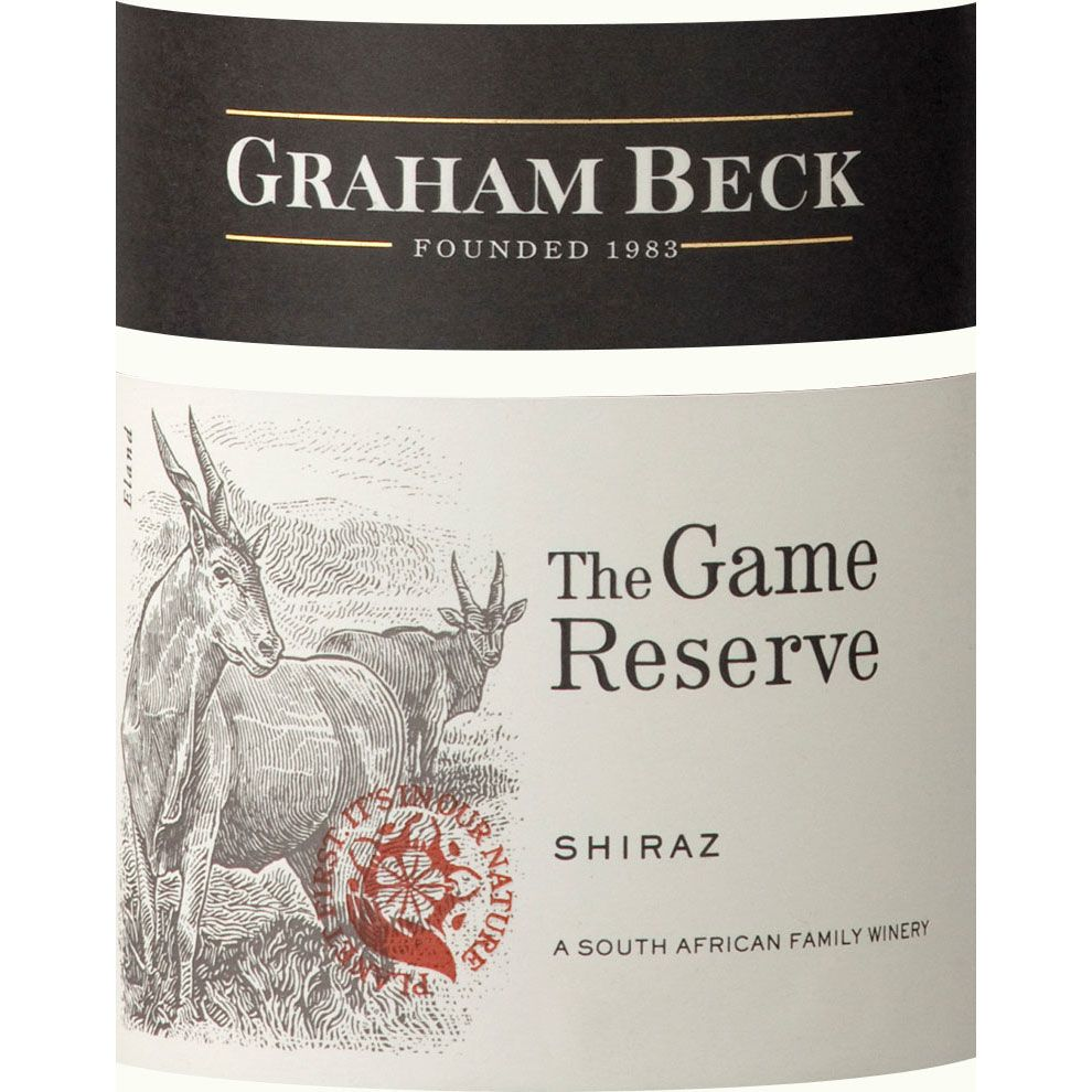 Rooiberg Winery Game Reserve Shiraz 2016  Front Label
