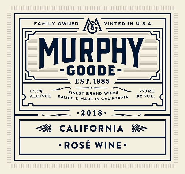Murphy-Goode Rose 2018  Front Label