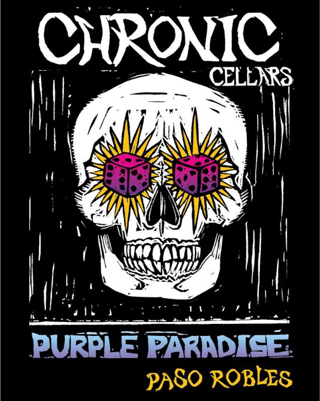 Chronic Cellars Purple Paradise Red Blend 2017 Front Label
