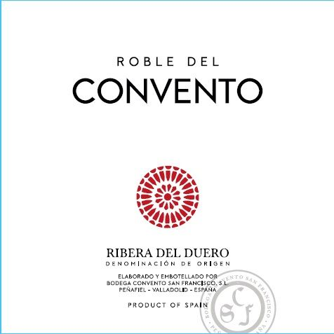 Convento San Francisco Roble 2018  Front Label