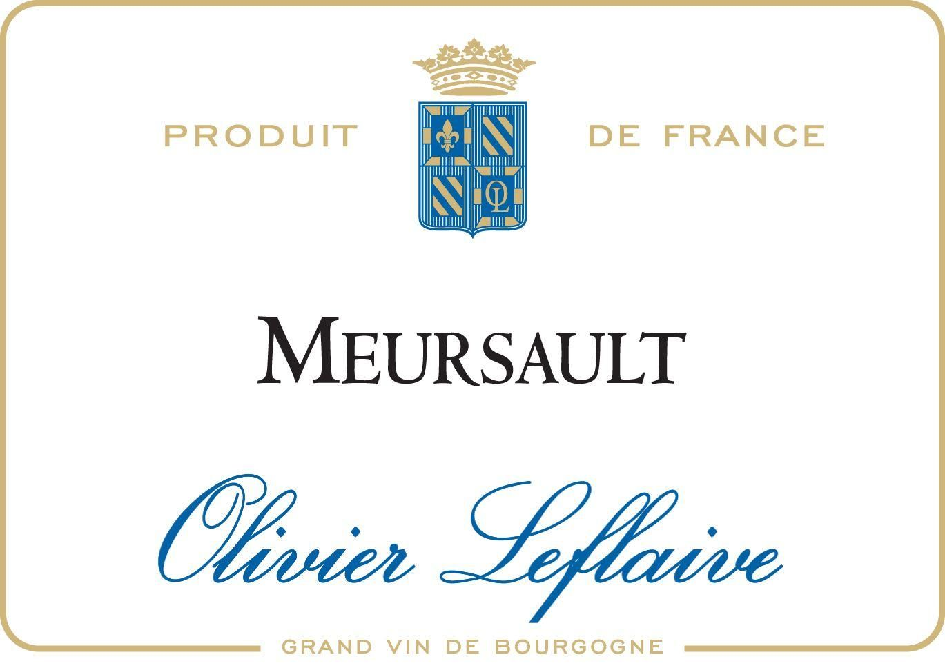 Olivier Leflaive Meursault (375ML half-bottle) 2016 Front Label