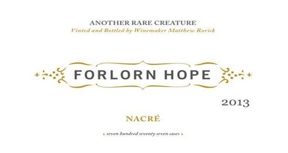 Forlorn Hope Yount Mill Vineyard Nacre Semillon 2013  Front Label