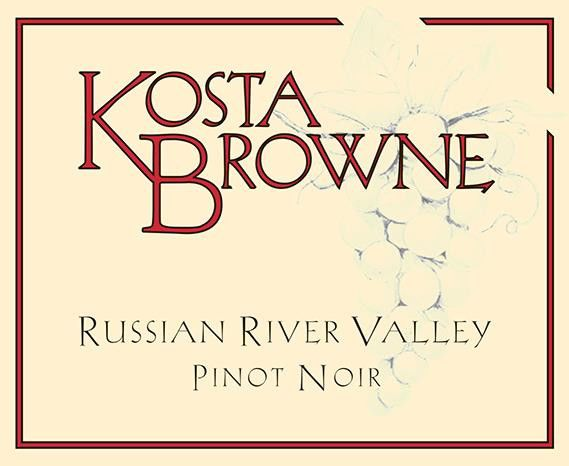 Kosta Browne Russian River Pinot Noir 2017 Front Label